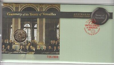 2019 Treaty Versailles $1.00 coin PNC.Issue at Sydney Stamp & Coin EXPO Day 4