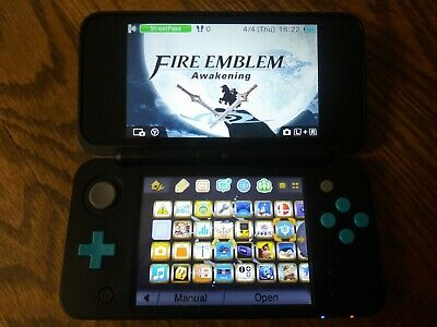 new nintendo 2ds xl black modded with 2000+ games installed (see description)