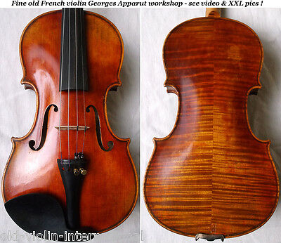 FINE OLD FRENCH MASTER VIOLIN GEORGES APPARUT - video- ANTIQUE バイオリン скрипка 542