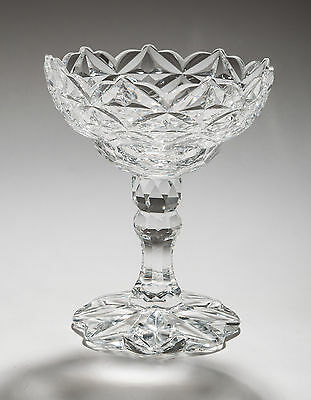 Victorian Fine Quality Antique Cut Glass Sweetmeat Dish - Anglo Irish Type