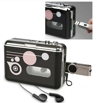 Portable Cassette Player USB Cassette to MP3 Converter Tape-to-MP3 Recorder GIFT