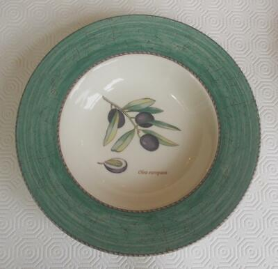Vintage Set 6 Wedgwood Queens Ware Sarahs Garden Green Soup Bowls 8.75In D.