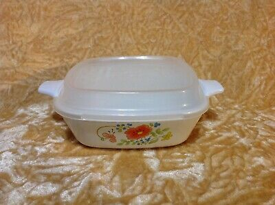 Corning Ware ~ Wildflower 1 3/4 Cup Petite Pan + Storage Lid