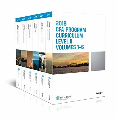 CFA Program Curriculum 2018 Level II Volumes 1-6 Box Set  [E-BθθK, 📨]🔥