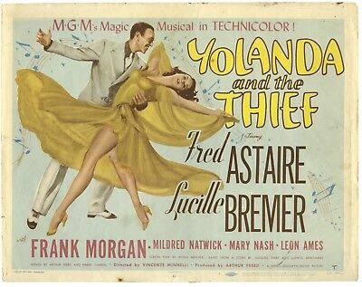YOLANDA AND THE THIEF - Title Card – Affichette US originale de 1945 - RARISSIME
