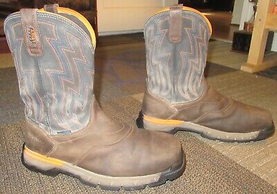 869bf078a26bf Mens ARIAT Rebar Flex Western Composite Toe Leather Work Boots sz 12 D