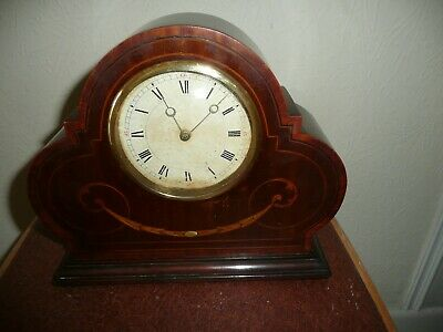 Antique, Swiss Made Mantle Clock in Lovely Inlaid Case, Working Order and VGC