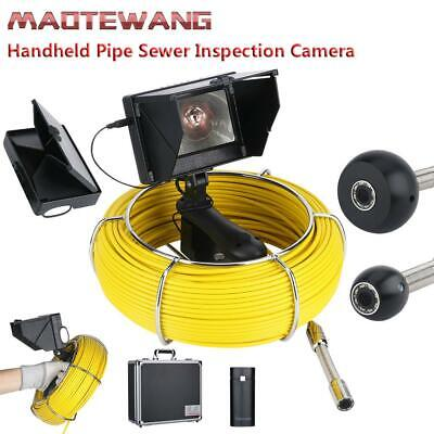 """4.3"""" Monitor 20M HD Pipe Drain Sewer Inspection Video Camera Handheld LED lights"""
