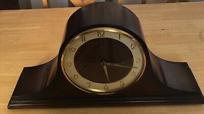 Napoleon Hat Westminster Chimes Mantle Clock Antique