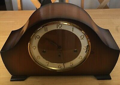 Antique German Mantel Clock with 3 Melodies Chimes Westminster/St Michael/Whit