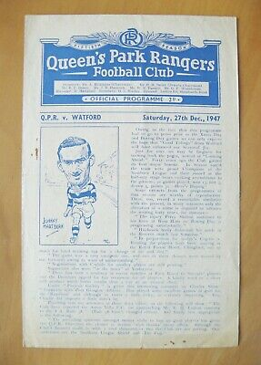 QUEENS PARK RANGERS QPR v WATFORD 1947/1948 *VG Condition Football Programme*