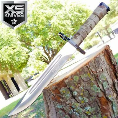 "13"" MILITARY SURVIVAL Fixed Blade BAYONET Hunting Knife RAMBO TACTICAL BOWIE"