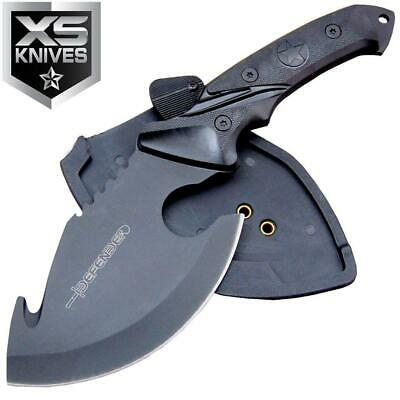 "10"" FIXED BLADE Tactical Hunting AXE Gut Hook FULL TANG SKINNER Knife w/ Sheath"