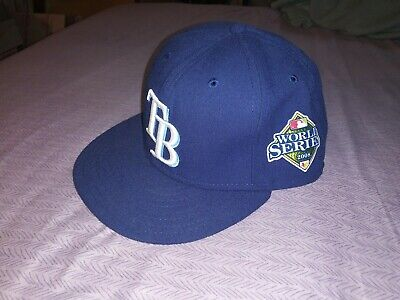 new concept 498d9 57cbf Tampa Bay Rays New Era 59Fifty World Series 2008 7 1 2 Fitted Hat On