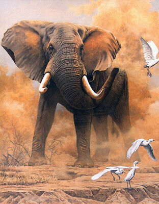 Full Drill Elephant Crane 5D Diamond Painting Cross Stitch Hand Embroidery Gifts