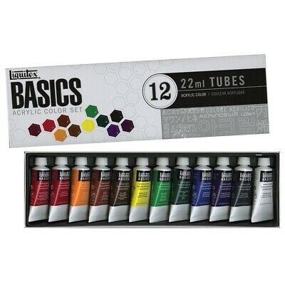 Liquitex Basics Acrylics 12-Color Set  - 0.75 Oz., 12-Color Set