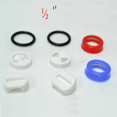 """Replacement ceramic disc insert  turn 1/2"""" valve & silicon gasket washer tap new"""
