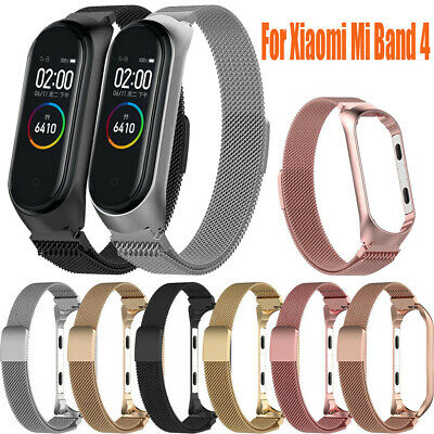 For Xiaomi Mi Band 4 Bracelet Milanese Magnetic Stainless Steel Watch Band Strap