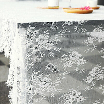 Lace Tablecloth White Vintage Large Table Cloth Cover Wedding Party Decor USA