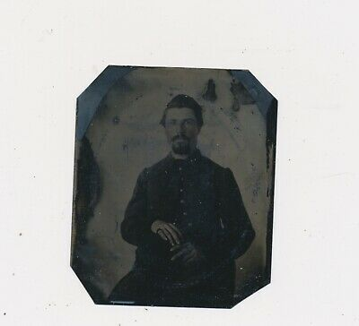 1861-64 Rare One of Kind Civil War Soldier & Folded Clipping Galesburg Illinois
