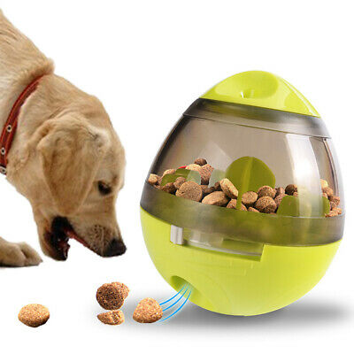 2pcs Cat Dogs Feeder Plastic Funny Pet Food Dispenser Ball Leakage Toy PS328