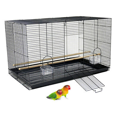 Bird Cage Rectangle Flight Cage for Finch Parakeet Budgie Small Birds 76x46x46cm