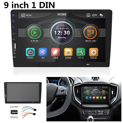 "9""1DIN Car Stereo MP5 Multimedia Player HD Radio Indash FM Touchable Mirror Link"