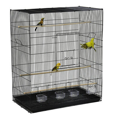 Bird Cage Finch Budgie Canary Traver Flight Cage for Multi Small Bird Perch Tray
