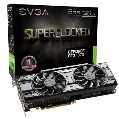 Very Fast Pascal Graphics Evga Geforce Gtx 1070 Sc Acx 3.0 8Gb