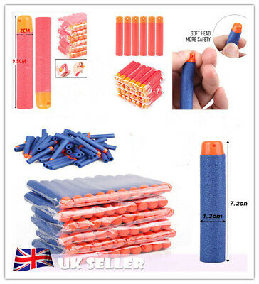 30-500PCS NERF Gun Darts Bullets Refill Soft Round Head Blast for N-Strike Toy