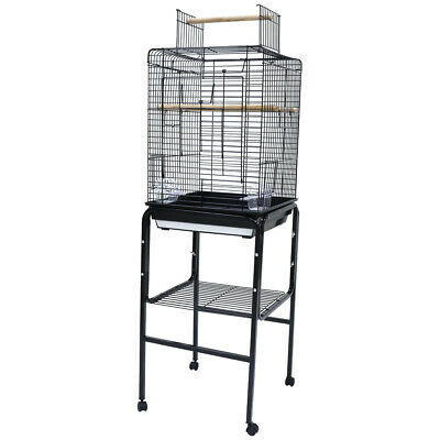 Play Top Open Bird Cage with Stand for Canary Finchy Cockatiel Parakeet Parrots