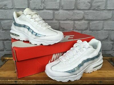 Details about Nike Air Max 95 Black Blue White Junior Unisex Trainers All Sizes