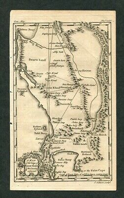 1755 Original Antique Map of the Cape of Good Hope Cape Town South Africa