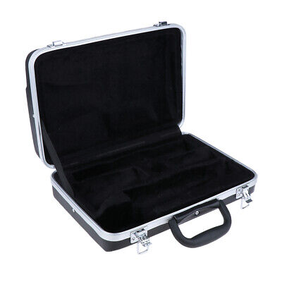 Dustproof Plastic Clarinet Carrying Case Gig Bag with Lock Latch for Player
