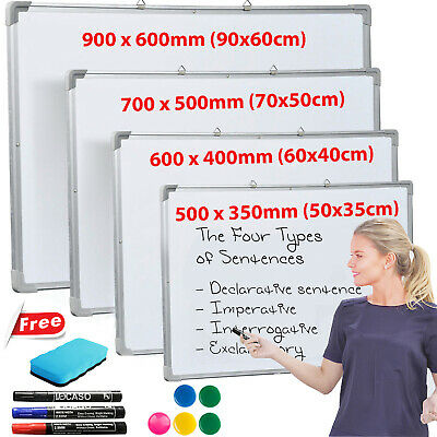 Magnetic Whiteboard Small Large White Board Dry Wipe Notice Home School Office.