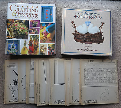 Craft Book & Pattern lot American Pastimes Crafting & Decorating Made Simple