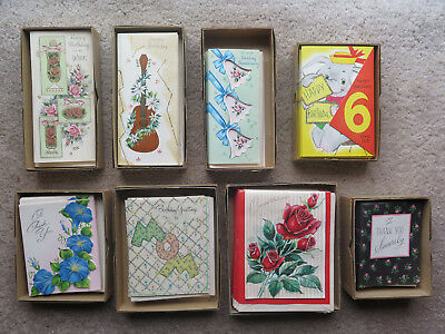 Huge lot vintage unused Stanley greeting cards Birthday Anniversary Thank You
