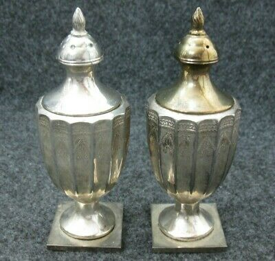 Pair of Vintage GODINGER Silver Plate / Gold Tone Salt and Pepper Shakers 5""