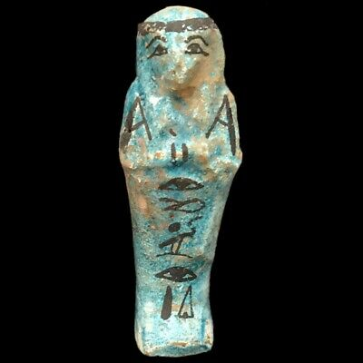 EGYPTIAN HIEROGLYPHIC SHABTI, LATE PERIOD 664 - 332 BC (3) Large Over 10 cm !!!!