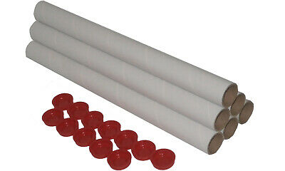 6X Mailing Postal Post Tubes 480mm X 40mm Cardboard Mail A2 A3 Poster Packaging