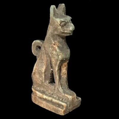 Beautiful Ancient Egyptian Cat Amulet 300 Bc (13)