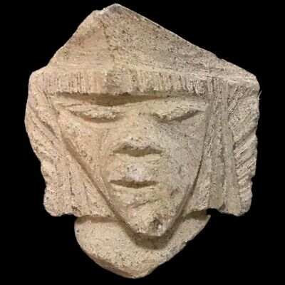Ultra Rare Stone Age Neolithic Anthropomorphic Vinca Bust, 4500Bc (2)