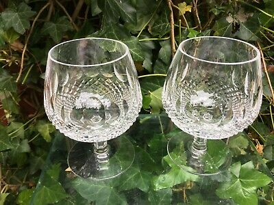 2 X Waterford Crystal Colleen Large Brandy Glasses 5 Inch Short Stem