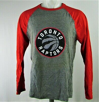 Toronto Raptors NBA Men's Gray Long Sleeve T-Shirt
