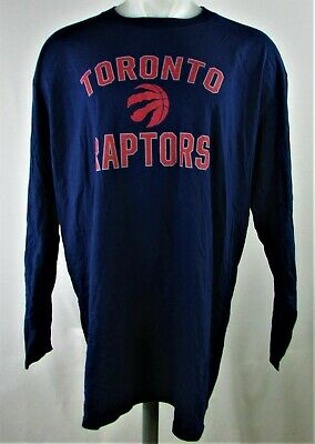 Toronto Raptors NBA Men's Navy Long Sleeve T-Shirt