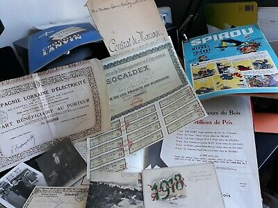 Lot De Divers Documents Anciens Lettres Vieux Papiers Voir Photos Et Description