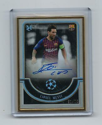 2018-19 Topps UEFA Museum LIONEL MESSI Auto 51/75 Gold Framed FC BARCELONA