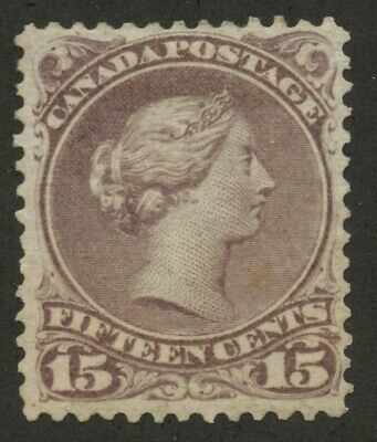 Canada 1868 Large Queen 15c purple #29i  VF Mint