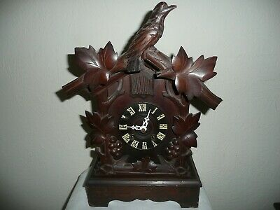 Antique, Black Forest, Mantle Cuckoo Clock, Fantastic Used Condition & Working.