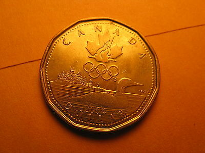 Canada 2004 Olympics Commemorative One Dollar Coin Lucky Loonie.